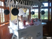 candy cart black and white