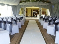 friern manor ceremony with our aisle carpet