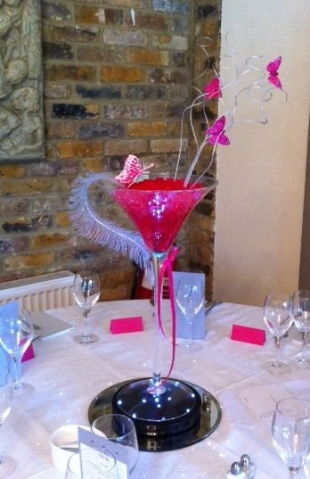 Martini Vase Centrepieces Creative Balloon Company