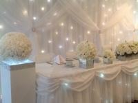 Manor suite Grecian backdrop