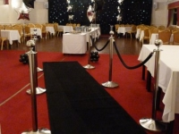 black starlight with silver poles and black carpet entrance