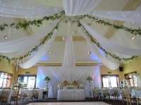 taylor suite full draping with wisteria and chandelier centre